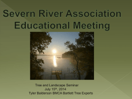 slide presentation - Severn River Association