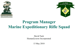 Program Manager Marine Expeditionary Rifle Squad
