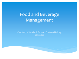FBM CH 7 - Costs and Pricing