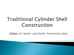 Cylinder Shell Seminar Power Point