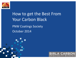 T3B) How to get the best from your carbon black