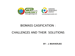Biomass Gasification: Challenges and their Solutions