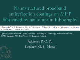 Nanostructured broadband antireflection coatings on AlInP