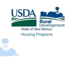 USDA Rural Development State of New Mexico Housing Programs
