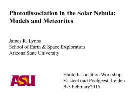 Photodissociation in the solar nebula: Comparison of models and