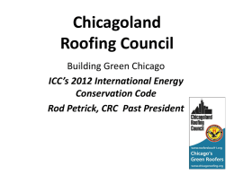 roof covering - CRCA Chicago Roofing Contractors Association