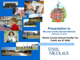 Presentation to McLean County School Districts on IL School