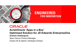 Oracle Solaris - Avnet Technology Solutions