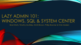 LazyAdmin101_Windows_SQL_SystemCenter