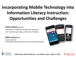 Incorporating Mobile Technology into Information Literacy Instruction