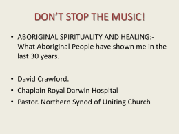 DON*T STOP THE MUSIC. - Spiritual Care Australia