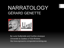 NARRATOLOGY GÉRARD GENETTE