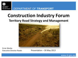 Presentation - Northern Territory Government