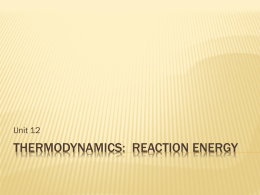 Unit 12 THERMODYNAMICS PPT