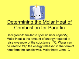 Molar Enthalpy of Paraffin