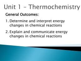 Thermo Chemistry Ch 9 Notes