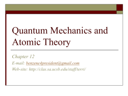 Quantum Mechanics and Atomic Theory