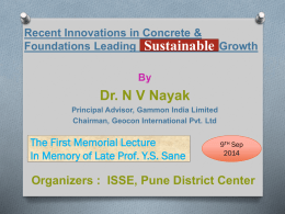 Pune Lecture 9-9-2014 - Indian Society of Structural Engineers Pune