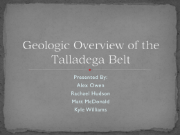 Geologic Overvi - University of South Alabama