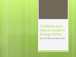 Caffeine and Niacin Levels in Energy Drinks