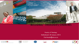 The nature and future of missional theologies/churhces