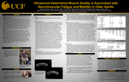 Ultrasound Determined Muscle Quality is Associated with