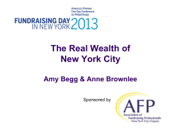 Real Wealth of New York - Association of Fundraising Professionals