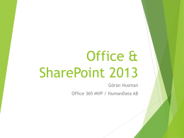 Office & SharePoint 2013
