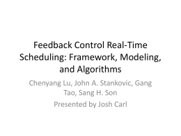 Feedback Control Real-Time Scheduling: Framework, Modeling