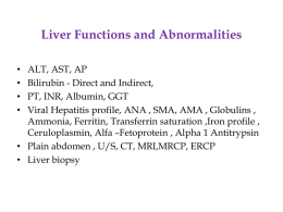 Liver Functions and Abnormalities