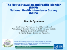 powerpoint - The Asian Pacific Islander Caucus for Public Health