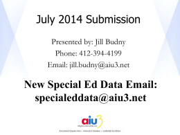 PennData July Submission PowerPoint Presentation