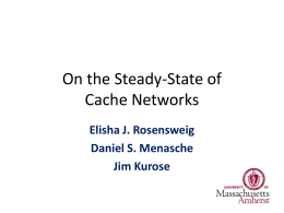 On the Analysis and Management of Cache Networks