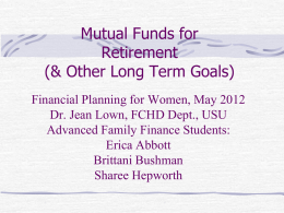 Mutual Funds May 2012