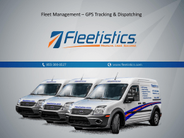 Live GPS Tracking and Dispatching