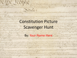 Constitution Picture Scavenger Hunt