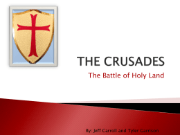 THE CRUSADES ppt - Eckman