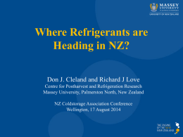 Where Refrigerants are Heading in NZ