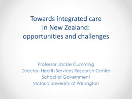 Towards integrated care in New Zealand: opportunities and