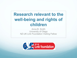 research well-being - NZ