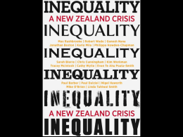 Inequality in New Zealand: Why don`t we talk more about wealth?