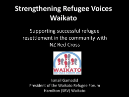 Working Together Waikato Refugee Forum and NZ Red Cross Waikato