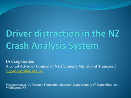 Driver distraction and inattention in NZ crash analysis system
