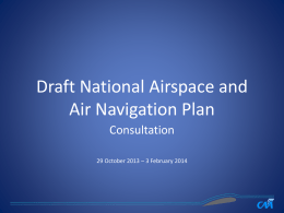 National Airspace and Navigation Plan