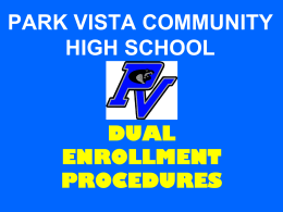 Dual Enrollment Registration PowerPoint
