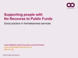 Supporting people with No Recourse to Public Funds