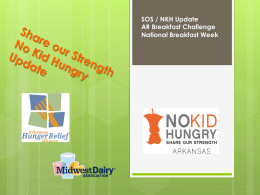 No Kid Hungry Breakfast-Distance learning presentation