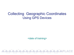 Collecting GPS data using a Garmin 72H receiver