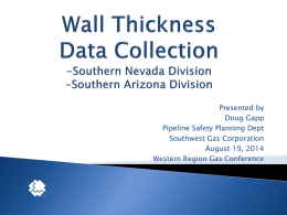 Wall Thickness Data Collection