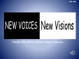 NEW VOICES/NEW VISIONS